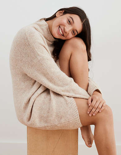 Aerie Turtleneck Sweater Dress