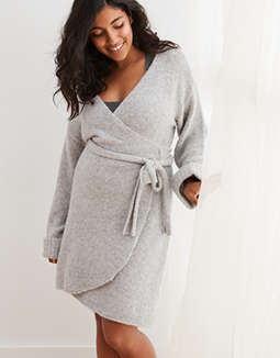Aerie Sweater Wrap Dress