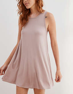 Aerie Ribbed Back Cut Out Knit Dress