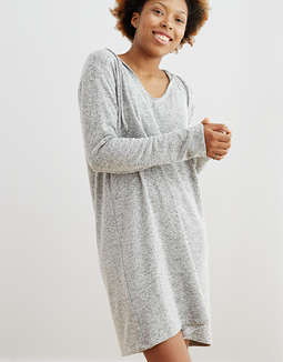 Aerie Plush Hoodie Dress