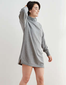 Aerie Fleece Turtleneck Dress