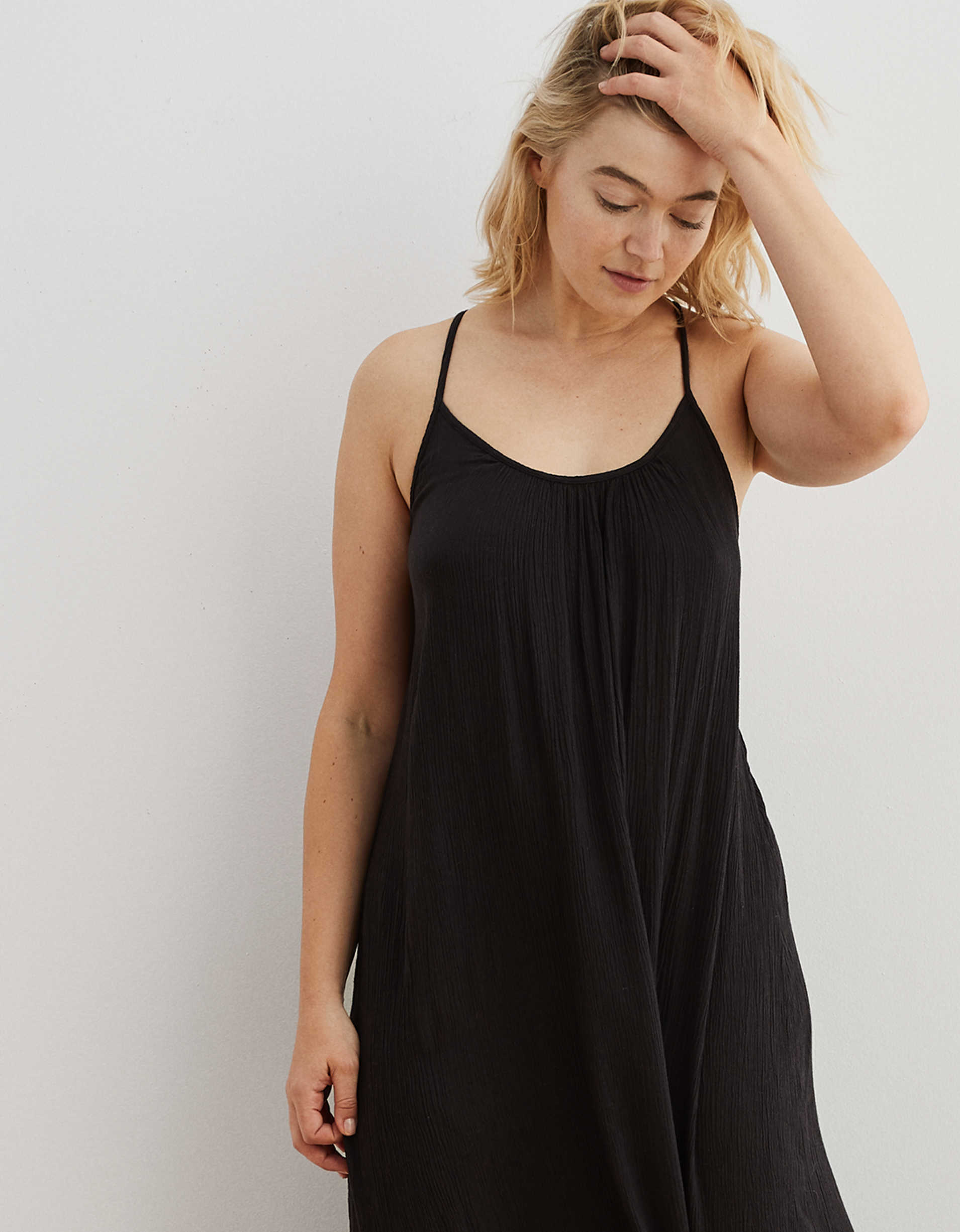 Aerie Ruffled Maxi Dress