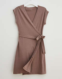 Aerie Knit Wrap Dress