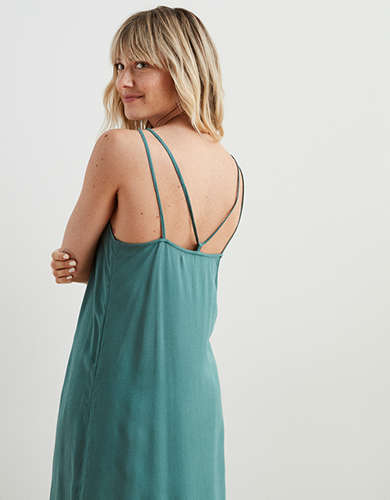 Aerie Gauze Midi Slip Dress