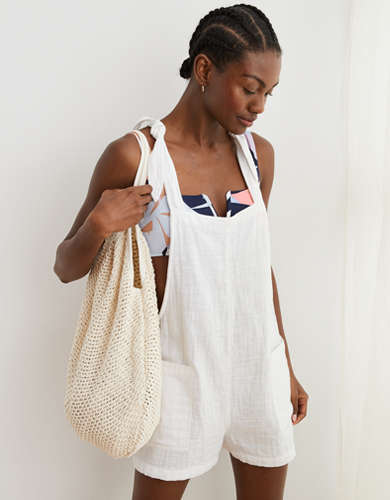 Aerie Easy Gauze Shortall