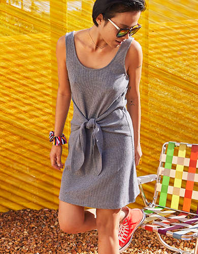 Aerie Knit Tie Dress