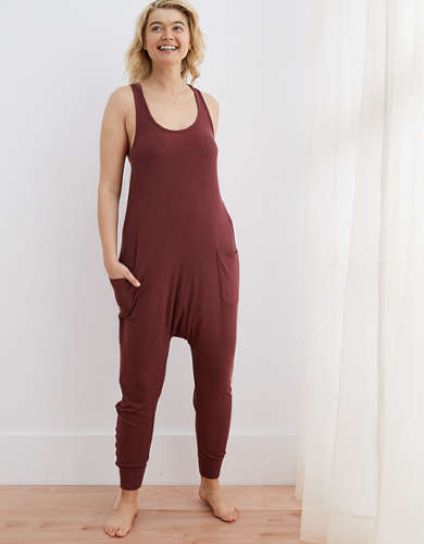 Aerie Real Soft® Ribbed Sleep Jumpsuit