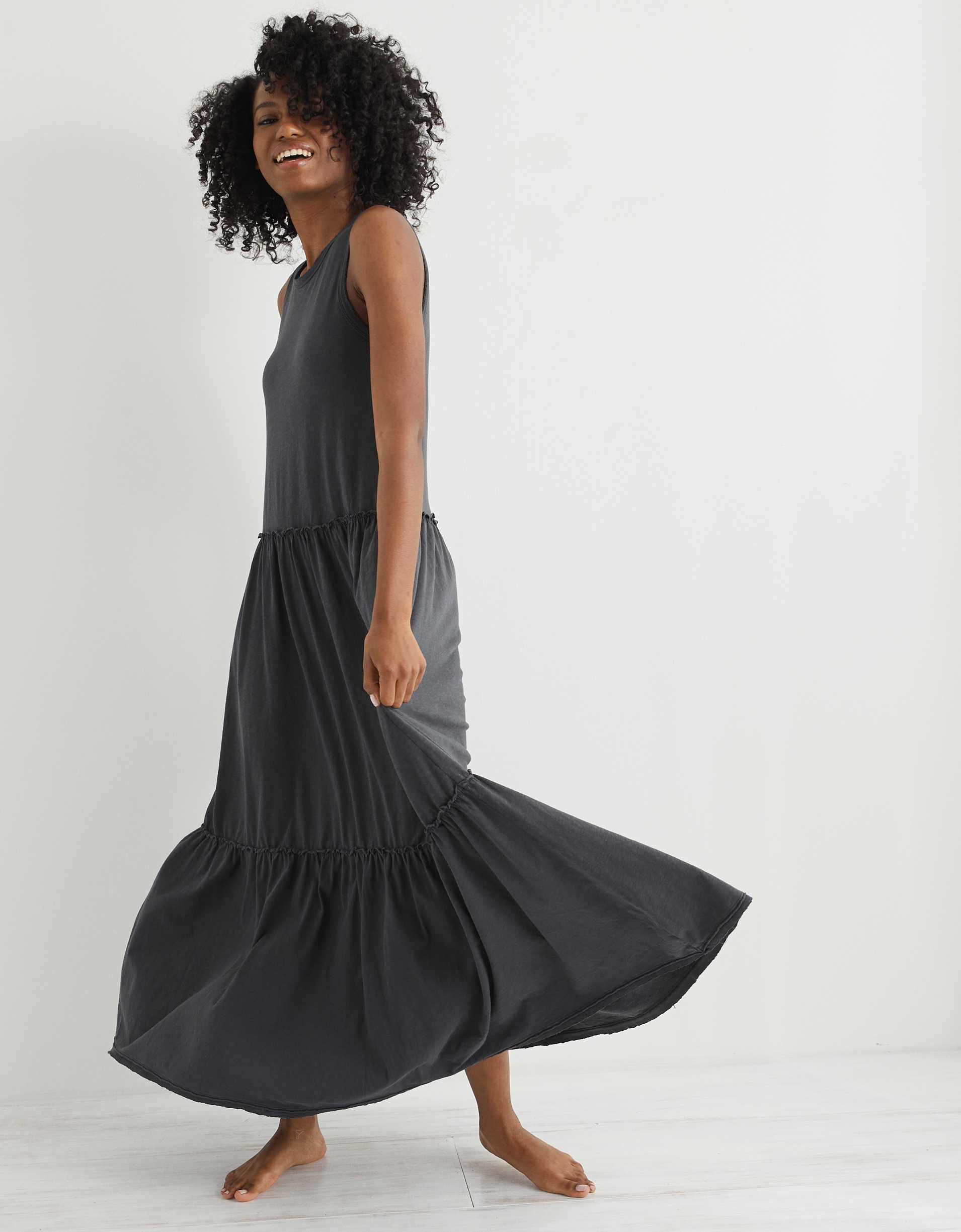 Aerie Knit Tiered Maxi Dress