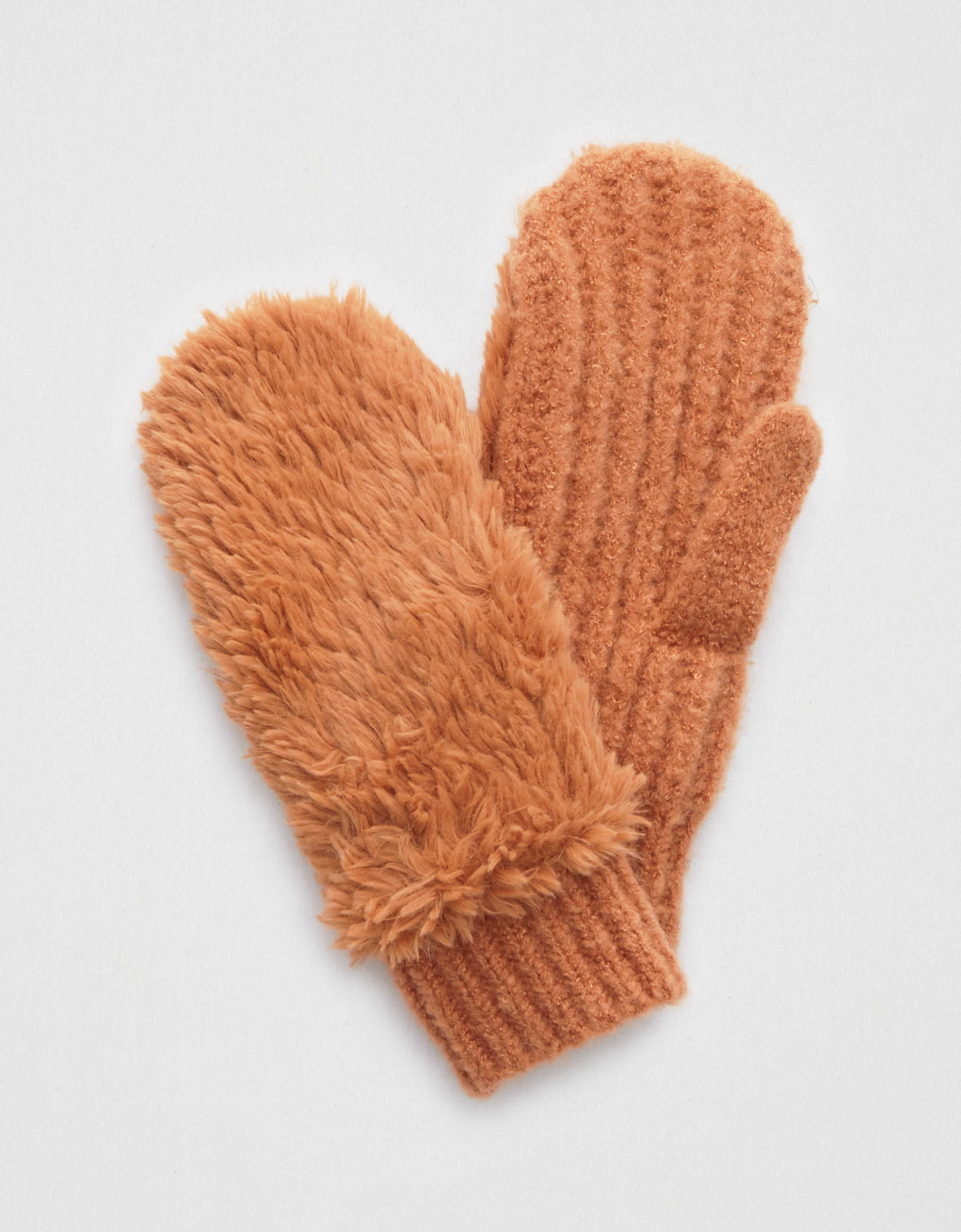 Aerie Sherpa Knit Mittens