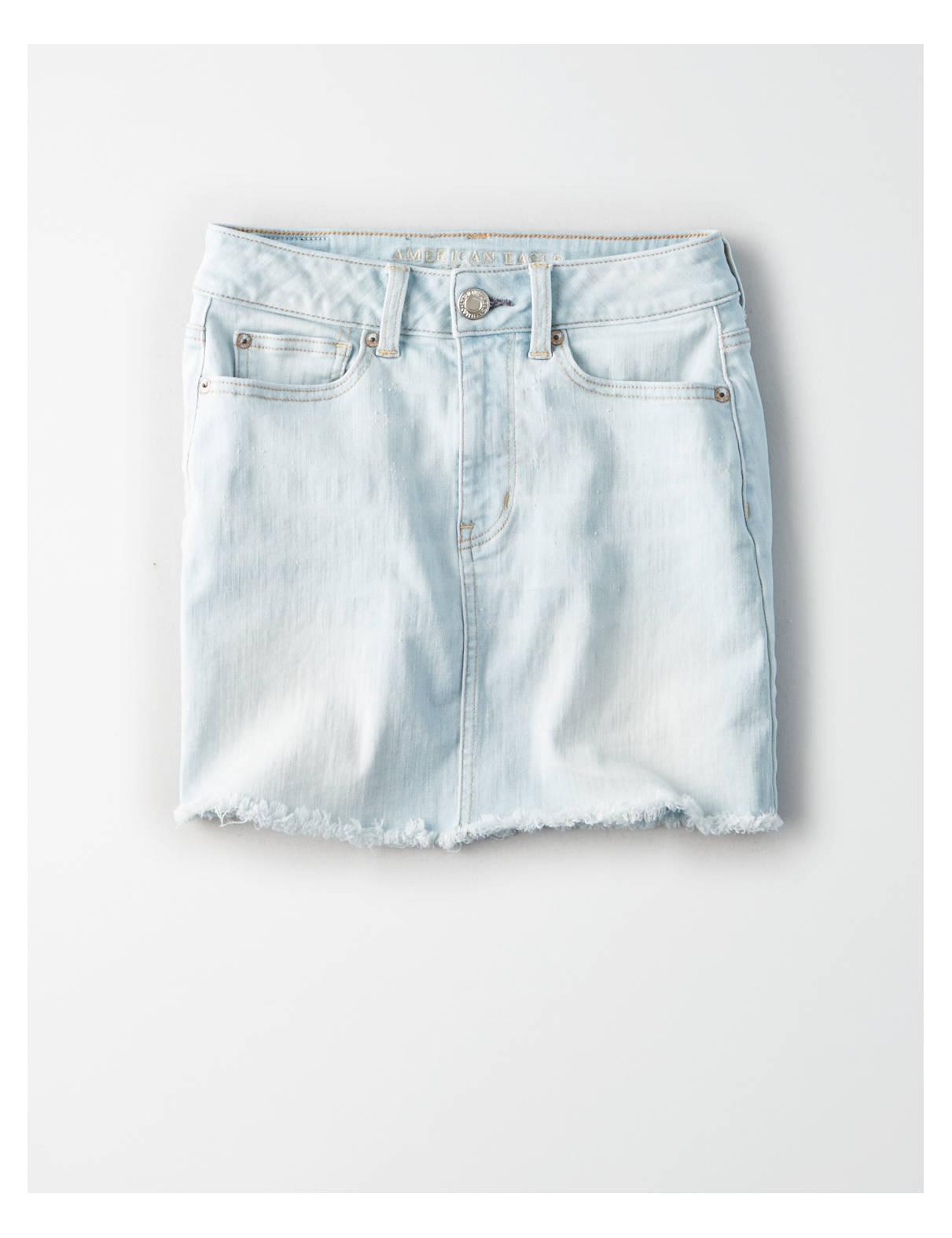 Display product reviews for AE Denim X High-Waisted Festival Denim Skirt