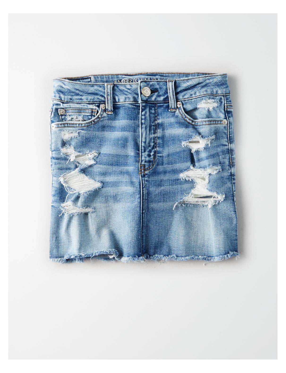 Display product reviews for AE Ne(X)t Level High-Waisted Festival Denim Skirt