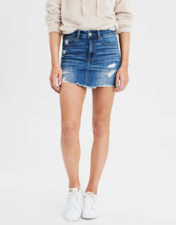 High-Waisted Mini Skirt