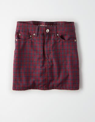 AE Ne(x)t Level High-Waisted Plaid Mini Skirt