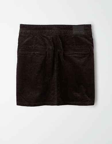 AE High-Waisted Velvet Mini Skirt