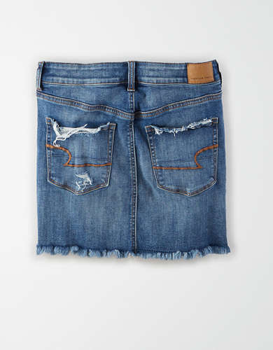 AE Ne(X)t Level High-Waisted Denim Mini Skirt
