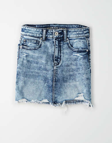 AE Ne(X)t Level Super High-Waisted Denim Mini Skirt