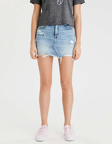 AE High-Waisted Denim Mini Skirt