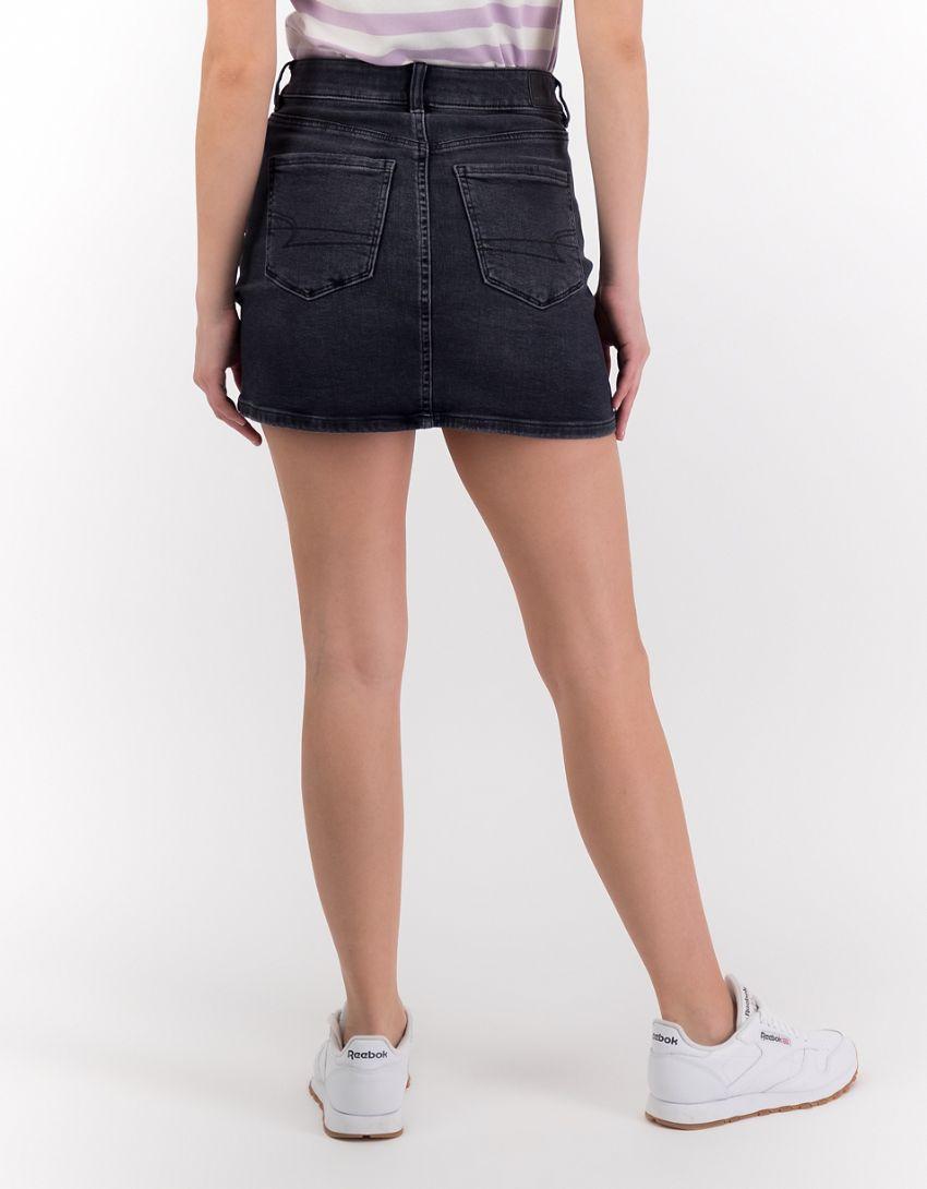 AE High-Waisted Denim Mini Skirt