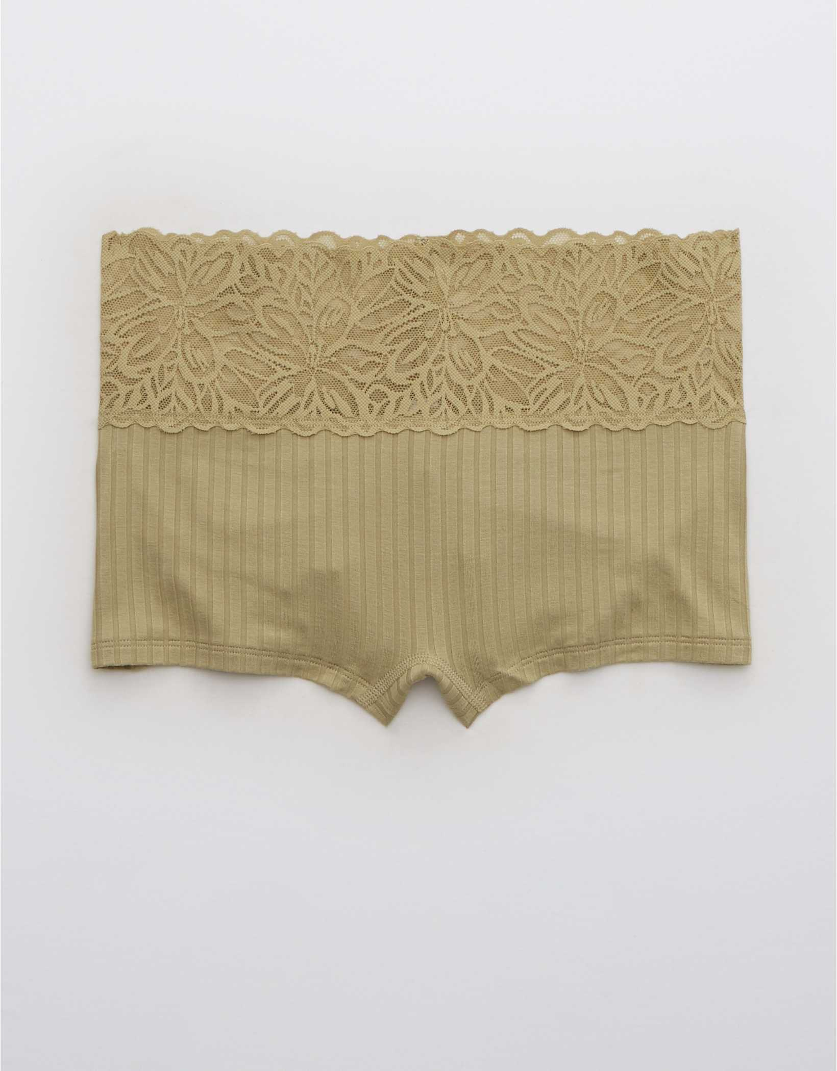 Aerie Ribbed Firework Lace Boyshort Underwear