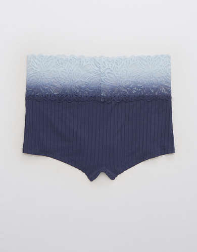 Aerie Ribbed Ombre Firework Lace Boybrief Underwear