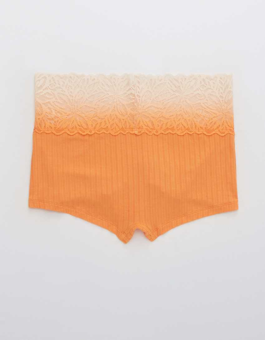 Aerie Ribbed Ombre Firework Lace Boyshort Underwear