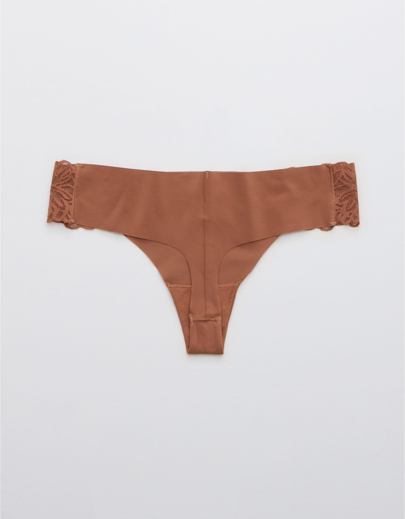 Aerie No Show Firework Lace Thong Underwear
