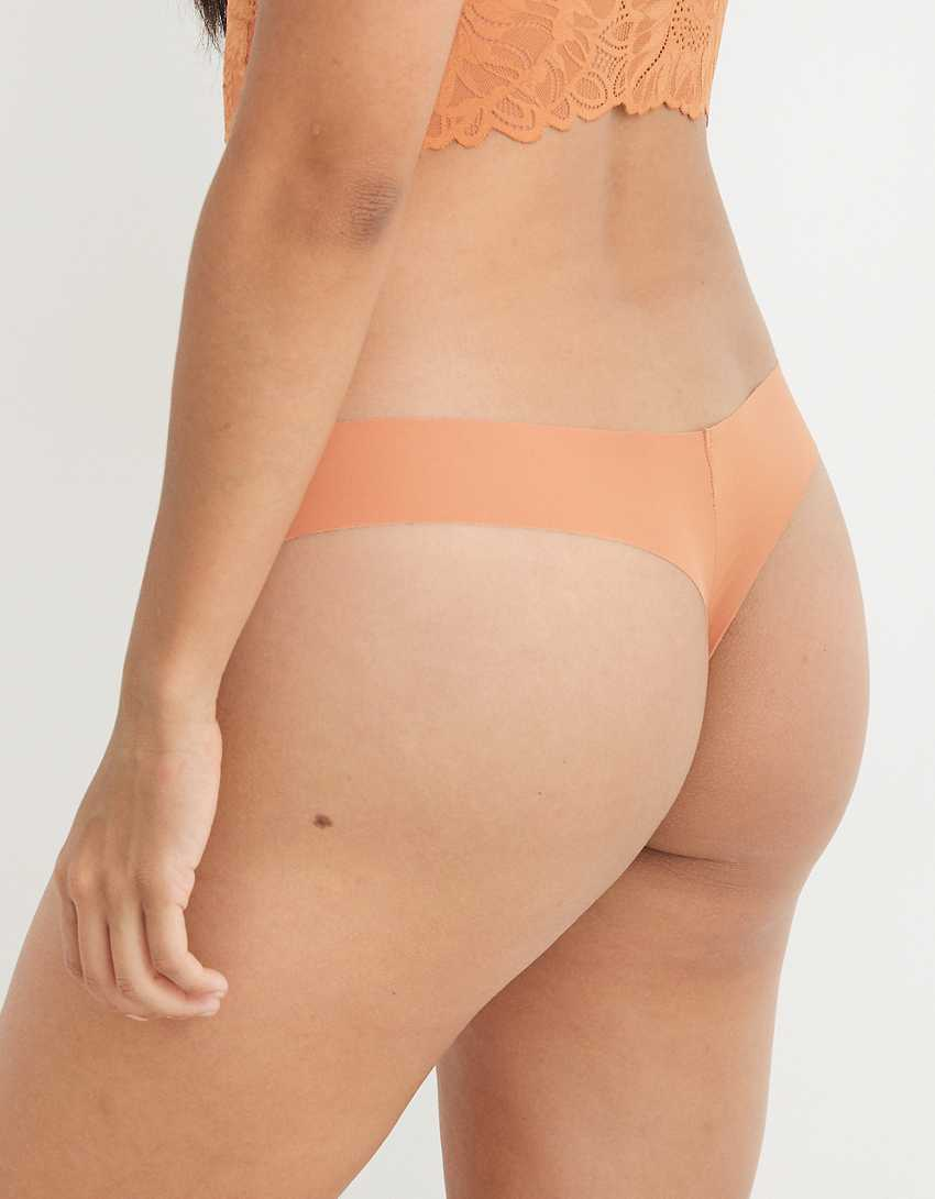 Aerie No Show Holiday Best Lace Thong Underwear