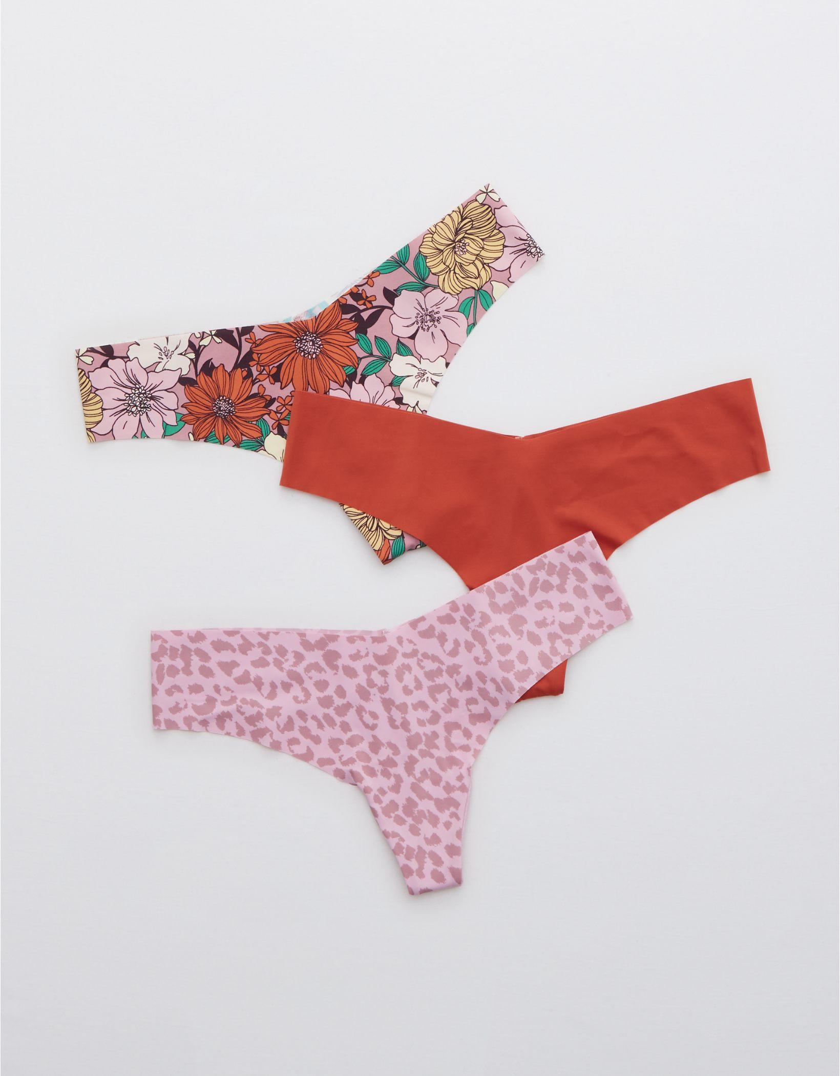 Aerie No Show Thong Underwear 3-Pack