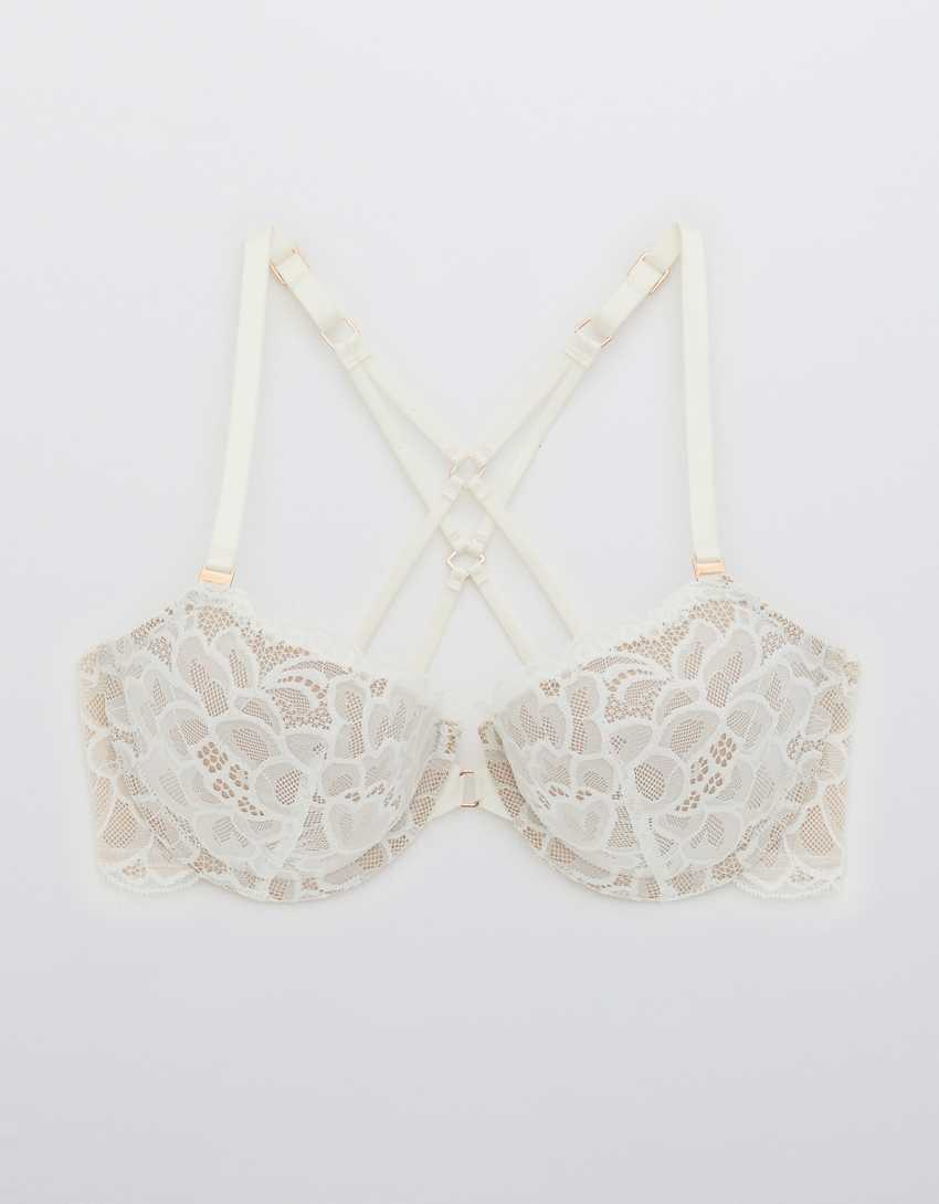 Aerie Real Power Balconette Lightly Lined New Blooms Lace Bra