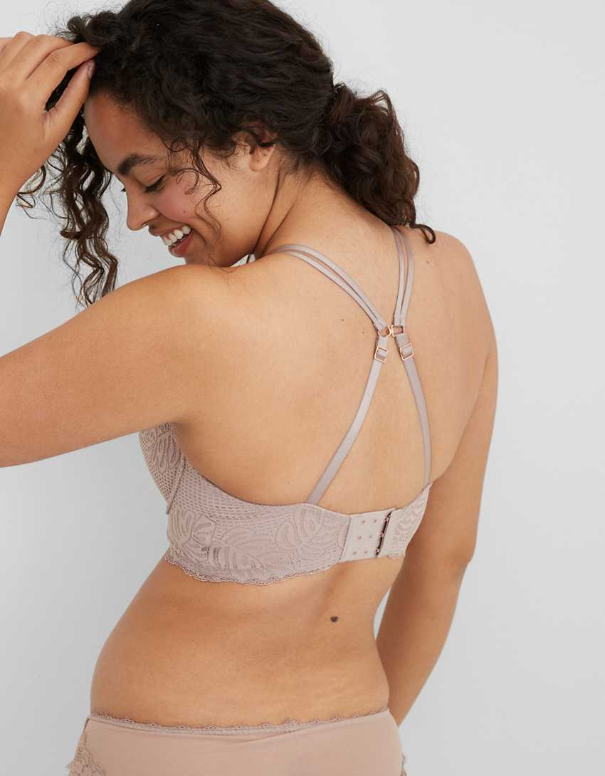 Aerie Real Power Balconette Lightly Lined Be Free Lace Bra