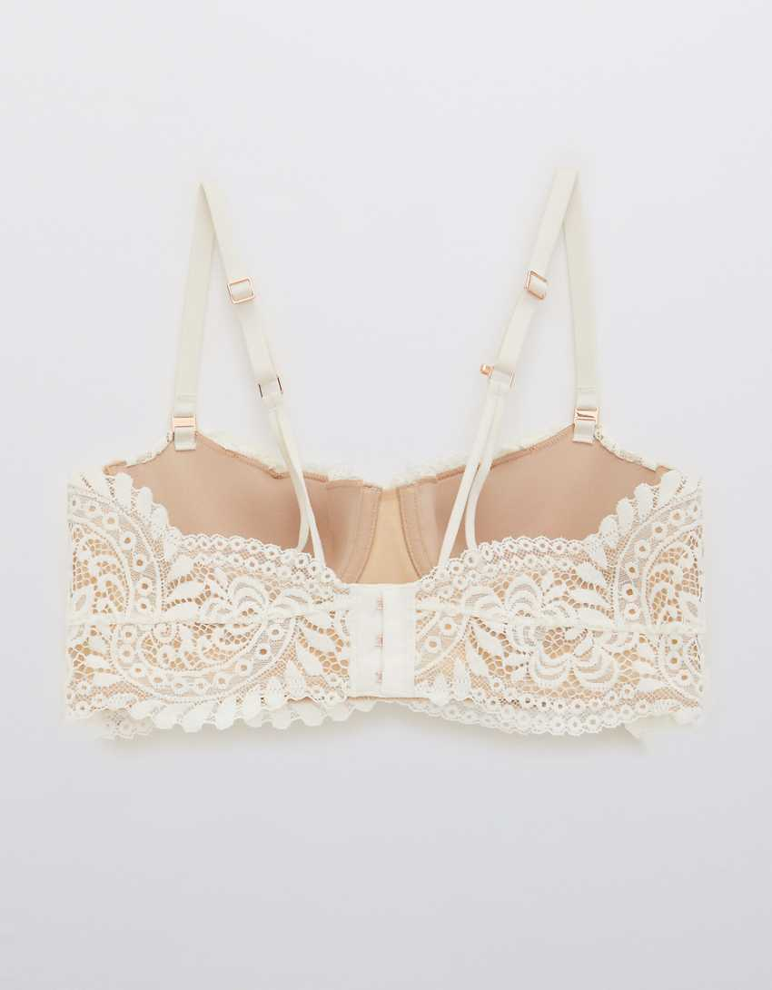Aerie Real Power Balconette Lightly Lined Far Out Lace Bra