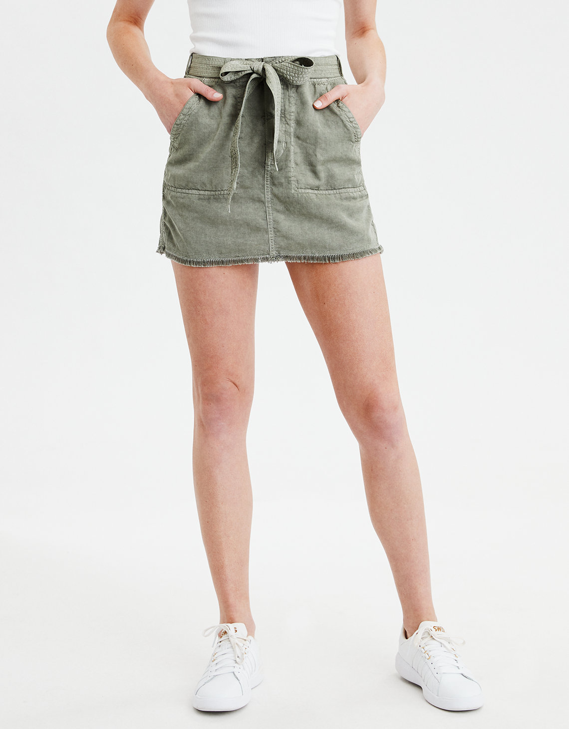 6b5ee3617aa AE Highest Waisted Military Skirt