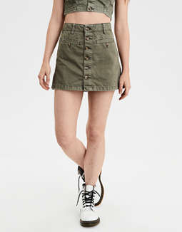 AE High-Waisted Denim A-Line Skirt