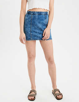 Highest Waist Denim Mini Skirt