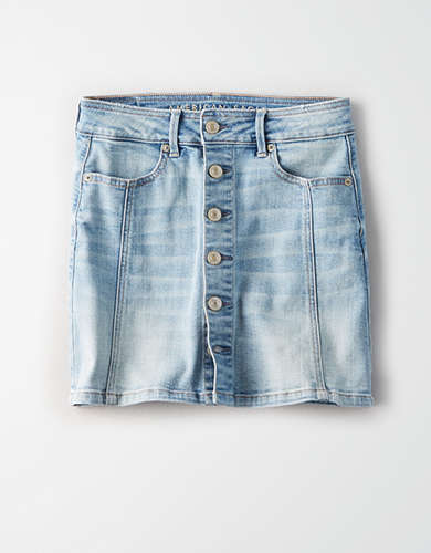 AE High-Waisted A-Line Denim Skirt