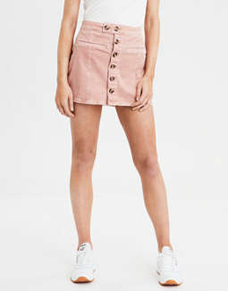 AE High-Waisted A-Line Corduroy Skirt