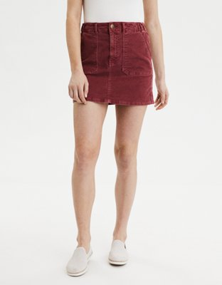 Ae High Waisted Corduroy A Line Skirt by American Eagle Outfitters