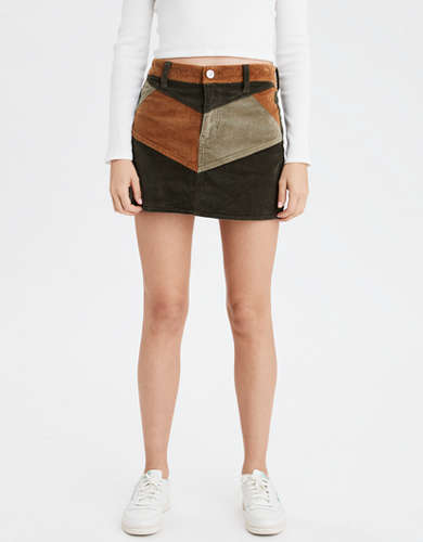 AE High-Waisted Corduroy A-Line Skirt