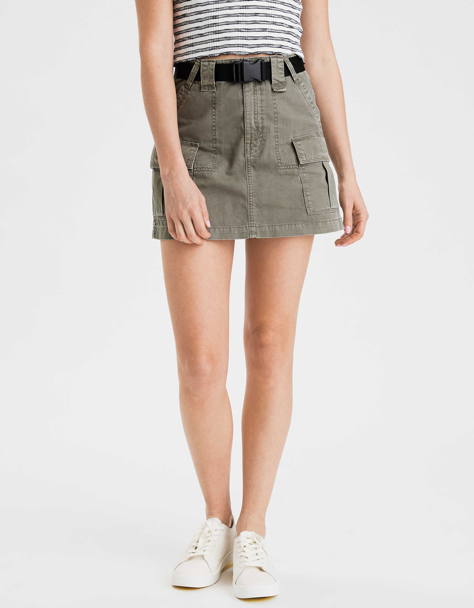 AE Super High-Waisted Cargo A-Line Skirt