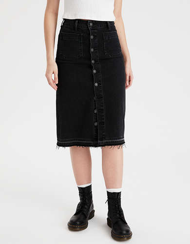 AE Super High-Waisted Midi Skirt