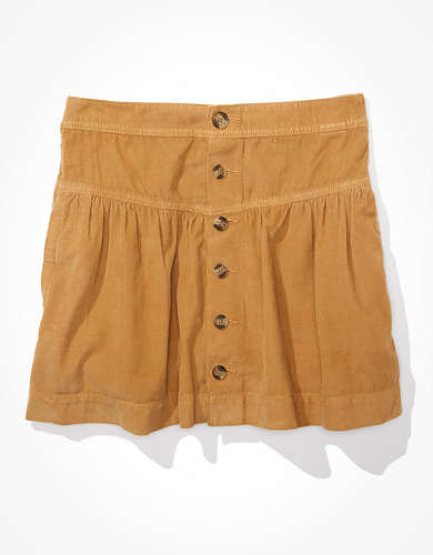 AE Super High-Waisted Corduroy Tiered Skirt