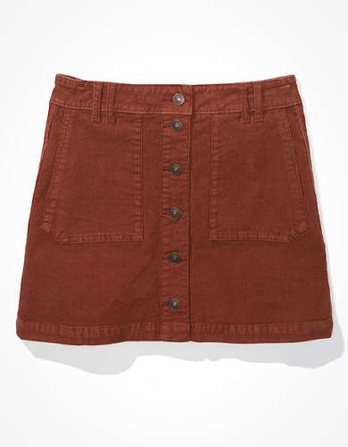 AE Super High-Waisted Corduroy A-Line Skirt