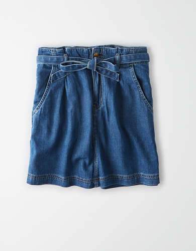 AE Super High-Waisted Denim A-Line Skirt