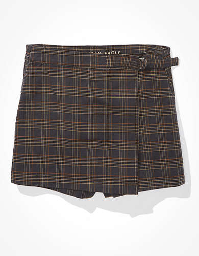 AE High-Waisted Plaid Skort