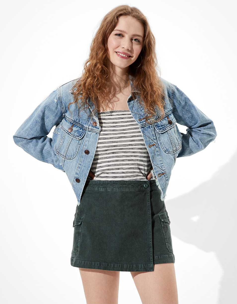 AE High-Waisted Corduroy Skort