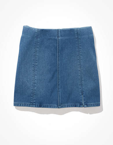 AE Dream Super High-Waisted Denim A-Line Skirt