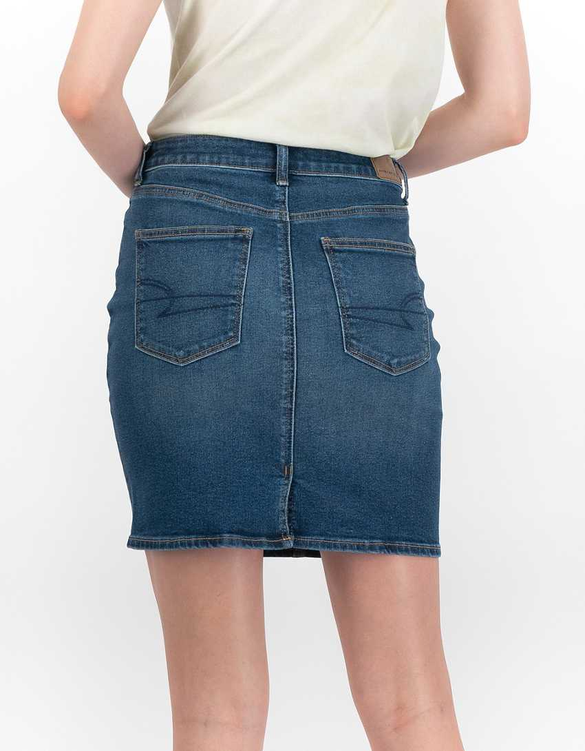 AE Stretch Denim Mom Skirt
