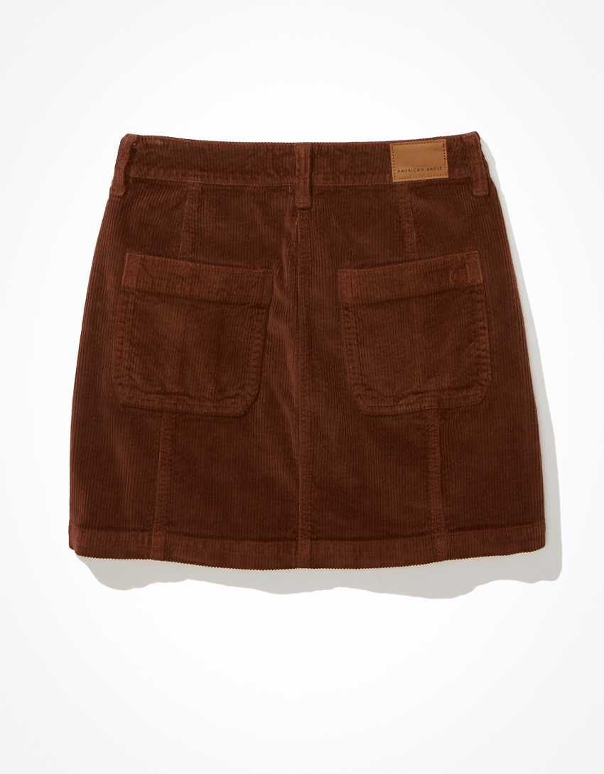 AE Corduroy Button-Up Skirt