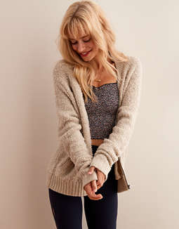 Aerie Boucle Bomber by American Eagle Outfitters