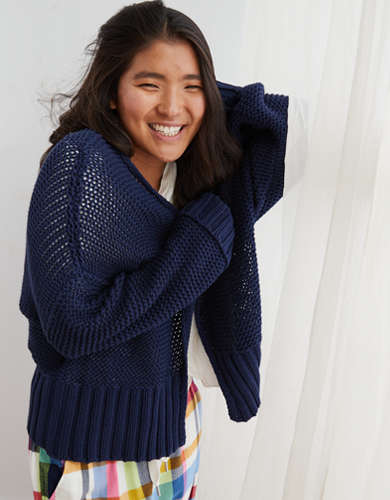 Aerie Easy Cropped Cardigan